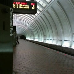Photo taken at Cleveland Park Metro Station by Jeanette W. on 3/30/2013