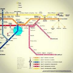 Photo taken at Metro - Ciudad Universitaria by F. Larry Z. on 12/27/2013