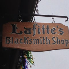 Photo taken at Lafitte's Blacksmith Shop by Spot N. on 2/8/2013