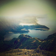 Photo taken at Miradouro da Lagoa do Fogo by Maryam on 11/4/2013