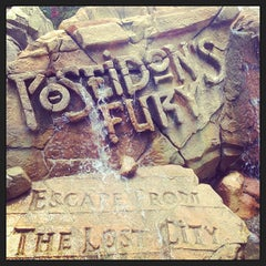 Photo taken at Poseidon's Fury by Nikki T. on 5/20/2013
