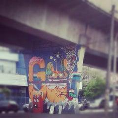 Photo taken at Museu Aberto de Arte Urbana by Mayara N. on 9/25/2012