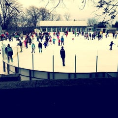 Photo taken at larz anderson skating rink by Alex R. on 12/24/2013