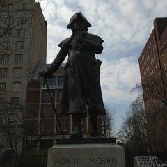 Photo taken at Robert Morris Statue by Fernanda P. on 4/8/2013