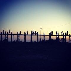 Photo taken at U Bein Bridge by Kittipong T. on 1/1/2013