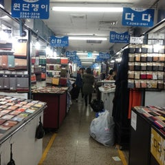 Photo taken at 동대문종합시장 (Dongdaemun Market) by Milano L. on 12/28/2012