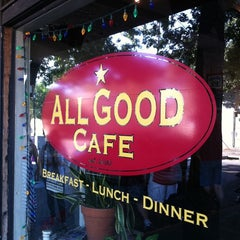 Photo taken at All Good Cafe by Chris W. on 10/1/2011