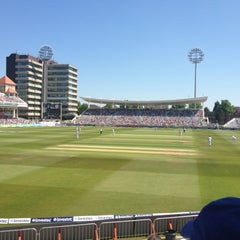 Photo taken at Trent Bridge Cricket Ground by Mike K. on 5/25/2012