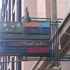 Photo taken at Illegal Pete's by David C. on 3/31/2012