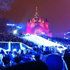 Photo taken at Red Bull Crashed Ice 2014 by Matthew Z. on 1/15/2012