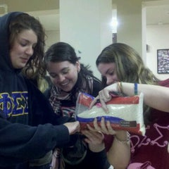 Photo taken at Rider University - Phi Sigma Sigma by Erin M. on 1/21/2012