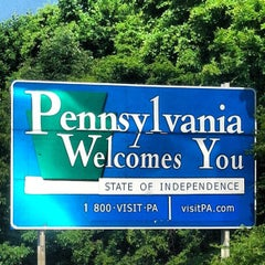 Photo taken at Delaware / Pennsylvania State Line by Bryan M. on 6/16/2012
