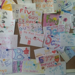 Photo taken at Five Guys by Benjamin R. on 8/1/2013