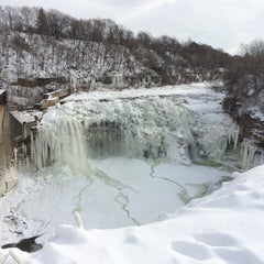 Photo taken at Lower Falls Park by Greg T. on 1/17/2015
