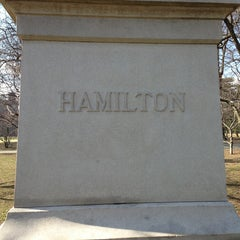 Photo taken at Alexander Hamilton Statue by Charley L. on 3/20/2013