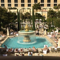 Photo taken at The Pool At Bellagio by Jac on 3/12/2013