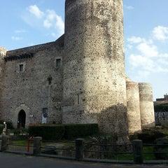 Photo taken at Castello Ursino by Federica V. on 3/29/2013