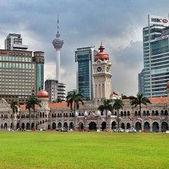 Photo taken at Independence Square (Dataran Merdeka) by Lidia T. on 1/5/2013