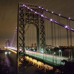 Photo taken at George Washington Bridge by Kevin L. on 10/13/2013