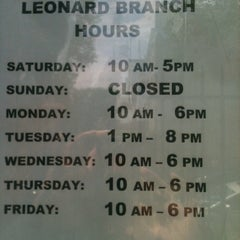 Photo taken at Brooklyn Public Library - Leonard Branch by Amanda M. on 6/14/2013