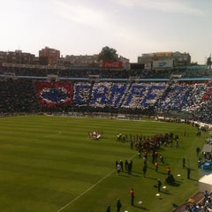 Photo taken at Estadio Azul by David R. on 4/14/2013
