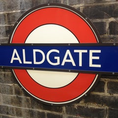 Photo taken at Aldgate London Underground Station by Christoph M. on 7/13/2013
