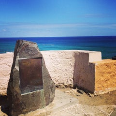 Photo taken at Amelia Earhart marker at Diamond Head Lookout by Mike S. on 5/12/2013