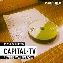 Photo taken at Capital TV by Diatie Z. on 6/22/2014