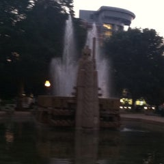Photo taken at Bronson Park by Wm D. on 7/11/2013