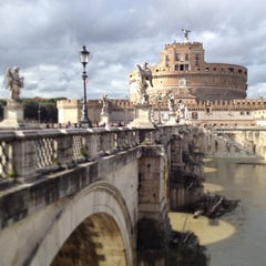 Photo taken at Ponte Sant'Angelo by Alberto L. on 4/5/2013