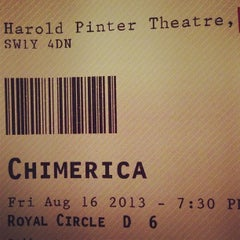 Photo taken at Harold Pinter Theatre by Duncan C. on 8/16/2013
