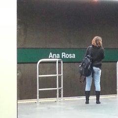 Photo taken at Estação Ana Rosa (Metrô) by Erick Leandro L. on 3/30/2013