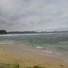 Photo taken at pantai kondang merak by Rio M. on 10/16/2013
