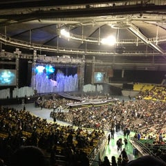 Photo taken at 올림픽체조경기장 (Olympic Gymnastics Arena) by JongSeung L. on 12/25/2012