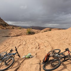 Photo taken at Poison Spider Mesa Trail by Bill A. on 11/2/2014