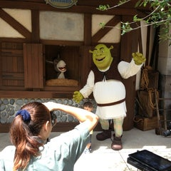 Photo taken at Shrek 4-D by Rebecca P. on 4/5/2013