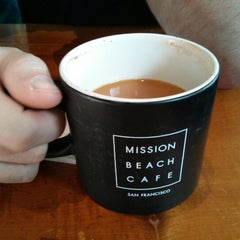 Photo taken at Mission Beach Cafe by William R. on 1/13/2013