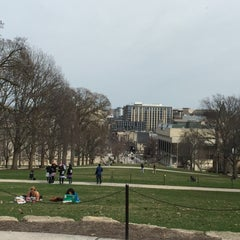 Photo taken at Bascom Hill by Terry H. on 4/12/2015