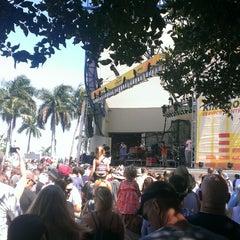 Photo taken at Tire Kingdom Stage @ Sunfest by Scott B. on 5/4/2014
