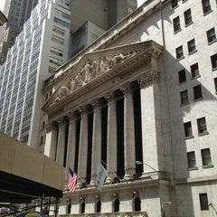 Photo taken at New York Stock Exchange by Richard R. on 4/7/2013