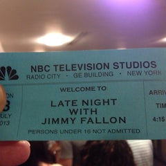 Photo taken at Late Night with Jimmy Fallon by Philip R. on 7/8/2013