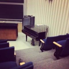 Photo taken at NYU Meyer Hall by Emma C. on 3/5/2013