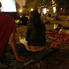 Photo taken at Logan Square International Film Series by Dominique C. on 8/29/2013