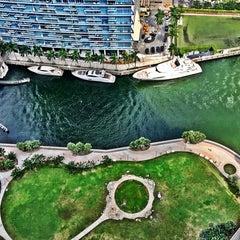 Photo taken at Miami Circle Park by Peter O. on 10/25/2015
