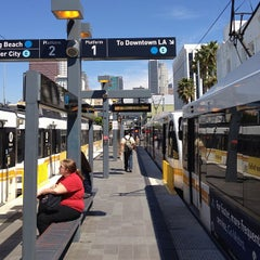 Photo taken at Pico (Chick Hearn) Metro Station by Narciso A. on 3/14/2013