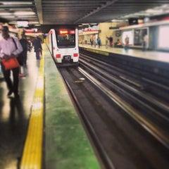 Photo taken at Metro Los Leones by Javier astorga V. on 3/28/2013