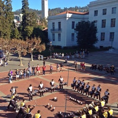Photo taken at Sproul Plaza by Sean R. on 10/31/2015