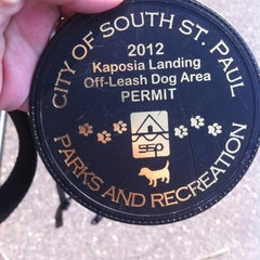 Photo taken at Kaposia Landing Off-Leash Dog Park by Jammie R. on 9/16/2012