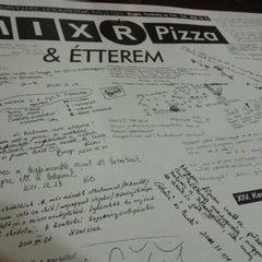 Photo taken at Mix-R Pizza & Étterem by Vincze G. on 4/7/2012