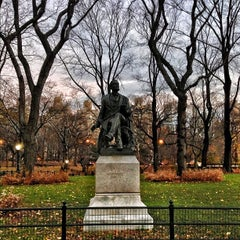 Photo taken at Fitz Greene Halleck Statue by Jeff M. on 12/8/2012
